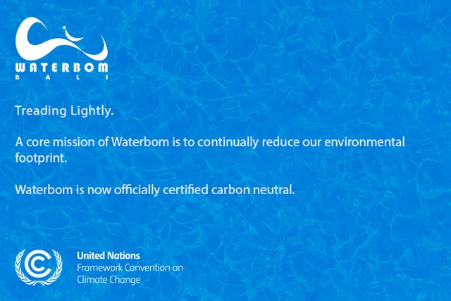 Waterbom Bali Officially Carbon Neutral